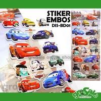 CARS DISNEY STICKER IMPORT STIKER 2D GAMBAR TEMPEL KARAKTER MOBIL