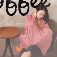 Nursing cover multifungsi murah / pompa asi /selimut maver pink glitte