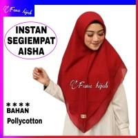 hijab instan AISHA / jilbab segiempat/ kerudung segi empat