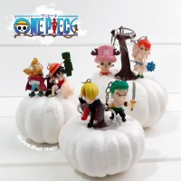 Gantungan Kunci Figure Anime One Piece Chibi Luffy Pirate Keychain