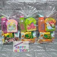 Paket souvenir ulang tahun Snack,botol dan kotak makan