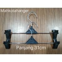 Hanger Jepit Besi 3mm (31cm) | Gantungan celana dan baju serbaguna