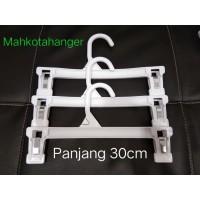 Hanger Jepit Dewasa (30cm) Plastik | Gantungan baju dan celana dewasa
