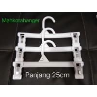 Hanger Jepit Anak Tanggung (25cm) Plastik | Gantungan baju dan celana