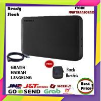 Toshiba Canvio Ready 1TB - HDD HD Hardisk Eksternal - GRATIS Pouch