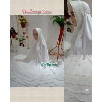 Mukena Princess (Coklat Pemda, Putih, Abu, Dusty Pink, Hijau Melon)