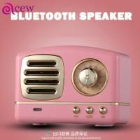 Speaker Wireless Bluetooth Mini Klasik Retro dengan Subwoofer S6
