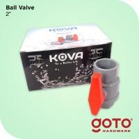 Stop Kran Ball Valve PVC Sock 2 Inch Kova Keran Air Plastik Engkol