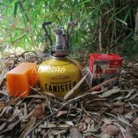 paket kompor lipat ultralight merk campsor plus tabung canister