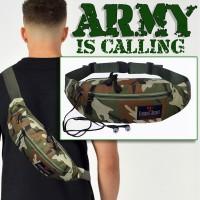 Tas Pinggang Pria Army Elegante Secret - Tas Selempang Pria Army baru