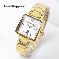 jam tangan HUSH PUPPIES WANITA KOTAK RANTAI BLACK GOLD