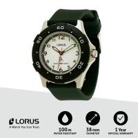 Jam tangan Lorus Analog Anak Unisex RRX15GX9 Dark Green Original