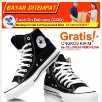 Sepatu Warrior/Converse Sparta High Black White Red / Warrior Allstar