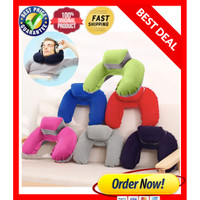 Travel Pillow Portable Inflatable Bantal Angin Leher Tiup High Quality