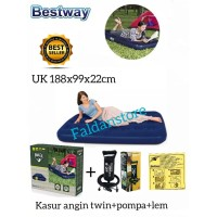 kasur angin bestway twin+pompa tangan+lem repair