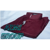 Baju Koko Ammu Dewasa Merah Maroon Marun Original - XL