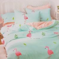 Bed Cover dan Sprei Katun Jepang Flamingo