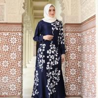 Maxi Dress/Gamis prisket maxmara premium Safa (Navy)