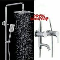 Shower Tiang Set Minimalis/Shower Column+Kran Panas Dingin