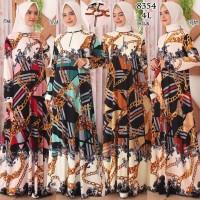 Baju Gamis Wanita Terbaru Gamis Busui Jersey Korea Gamis Jumbo 4L 8354