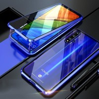 HUAWEI NOVA 5T MAGNETIC GLASS FRONT BACK CASE CLEAR BACK COVER 360