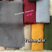 Jilbab potton star poton diamond pollycotton bella square