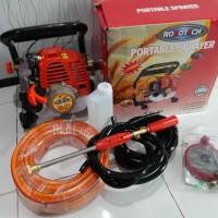 paket portable power sprayer merk Robotech rh787 plus 100M