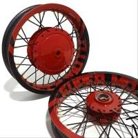 Velg Sepaket Ring 14 Tapak Lebar Costum Supermoto Motor Mio Vario Beat
