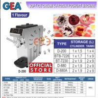 GEA D 200 - Soft Ice Cream & Frozen Yogurt Machine - Mesin Ice 1 Tuas