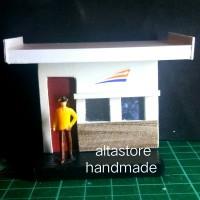 Miniatur pos penjaga palang pintu Kereta api