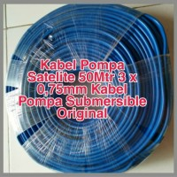 Kabel Pompa Air Satelit Biru 50 meter 3x0,75 ORIGINAL SNI