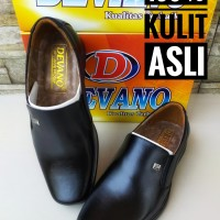sepatu devano fantofel kantor dinas pantofel hitam pria kulit murah