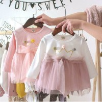 baju impor bayi anak dress cantik queen