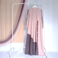 long dress pink bagus murah
