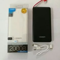 Power Bank Veger 20000 MAH V80 Powerbank Slim Original