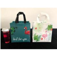 paper bag - goodie bag painting tas kain jinjing / kantong flaminggo