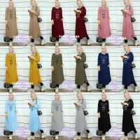 tunik jumbo first i need coffe 21 / pakaian muslim wanita