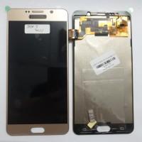 LCD 1SET SAMSUNG NOTE 5 GALAXY NOTE 5 ORIGINAL GOLD BISA KONTRAS