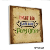 Hiasan Dinding Kata Motivasi Poster Kayu Quotes Cafe Vintage