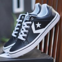 ORIGINAL Converse One Star Black White Hitam Putih Sepatu Pria BNIB