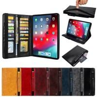 """premium flip cover leather ipad 5 9.7"""" 2018 case book case card stylus"""