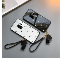 samsung galaxy S8 love back tempered glass hard slim case cover cute