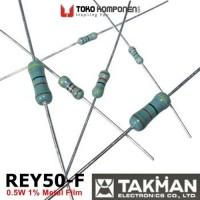 470R 0.5W 1% Takman REY50-F Series metal film resistor 470 ohm
