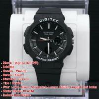 Jam tangan digital original Digitec 3083 hitam water resist anti air