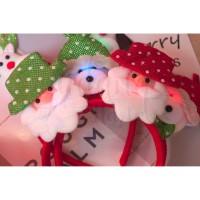 Bando Natal Lucu Santa Snowman Rudolph LED GH 505502
