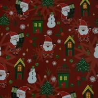 "Kertas Kado Sansan Wawa SW 5448 Natal/Christmas/Santa Claus"""