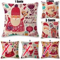 sarung bantal santa natal import