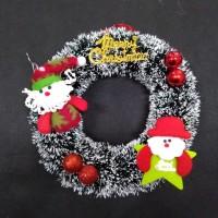 Hiasan krans wreath ring pintu natal 28 cm RUSA