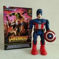 Robot Avengers Captain America, robot berlampu dan bersuara ej881