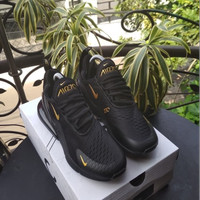 Nike Airmax 270 Black Gold Sneakers For Man Premium Original